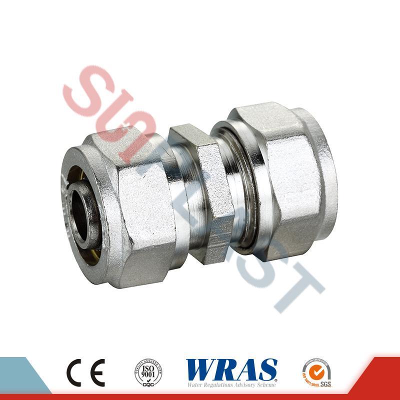 Brass Compression Coupling For PEX-AL-PEX Multilayer Pipe